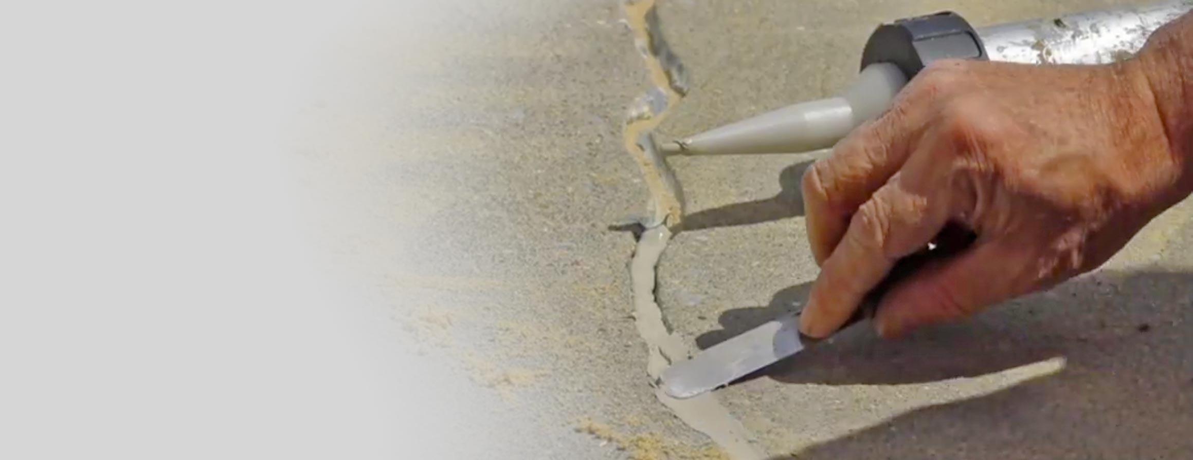 Crack repair for driveways
