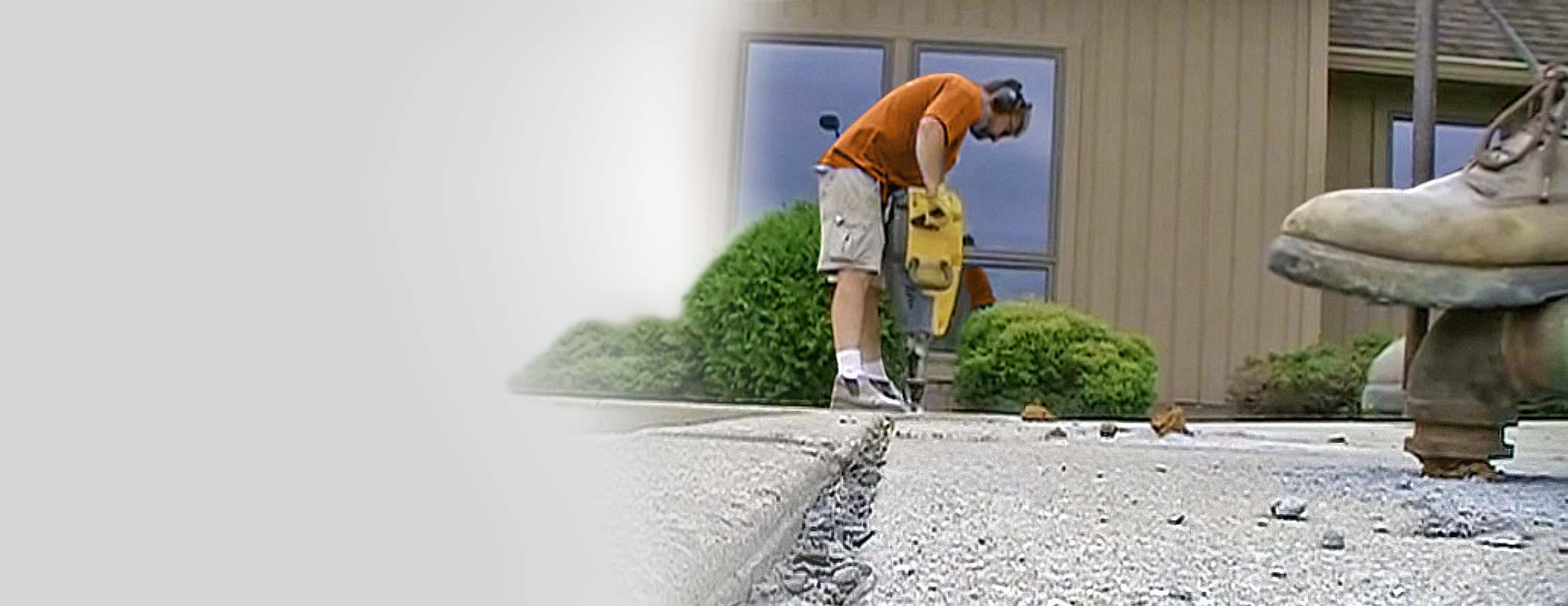 Mudjacking concrete to level trip hazards
