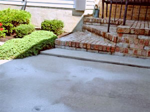 Driveway steps - Before